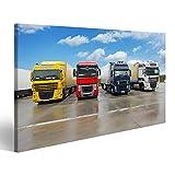 Bild Bilder auf Leinwand LKW im Lager - Gütertransport