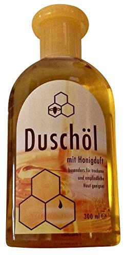 Duschöl mit Honigduft, Inhalt 300 ml, für sehr pflegebedürftige Haut