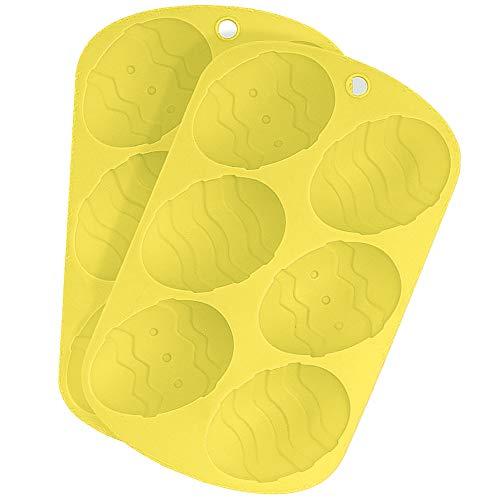 THE TWIDDLERS 2 Stampi in Silicone per Uova di Pasqua di Cioccolato Premium