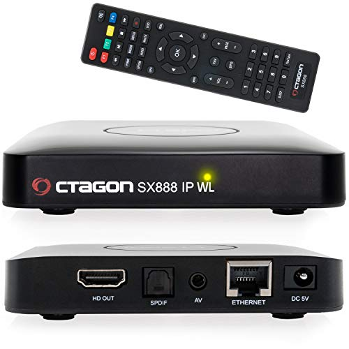 Octagon SX888 IP WL H265 Mini IPTV Box Receiver mit Stalker, m3u Playlist, VOD, Xtream, WebTV [USB, HDMI, LAN,WLAN] Full HD