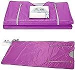 Kacsoo 2 Zone Digital Far-Infrared (FIR) Oxford Sauna Blanket,Sauna Blanket for Weight Loss Body Shape Slimming Fitness 110V(Purple)