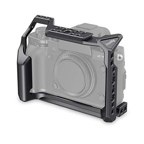 SmallRig Camera Cage for Fujifilm X-T3, Aluminum Alloy Cage with Cold Shoe, NATO Rail, Threaded Holes for Arri - 2228B