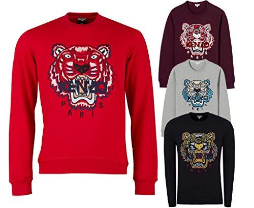 Kenzo Herren Drachen Tiger Sweatshirt, Rundhals Schwarz Sweat - Schwarz, XS