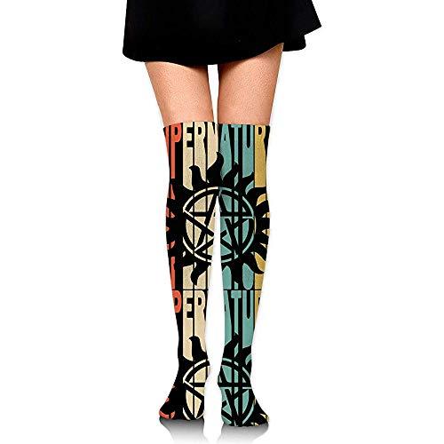 Jesse Tobias Retro Style Supernatural Silhouette 1 Damen Stiefel Overknee High Strümpfe