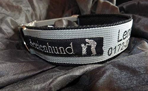 Hunde Halsband Wunschstick, Telefonnummer und Webband Seelenhund