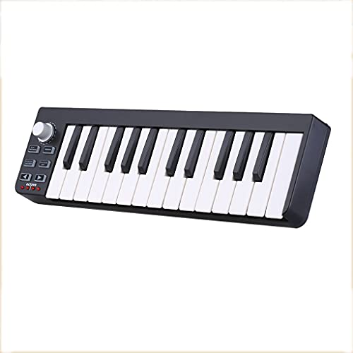 RYSF Teclados de Piano Portátil Mini Controlador Midi USB de 25 Teclas Teclado Midi Órgano electrónico