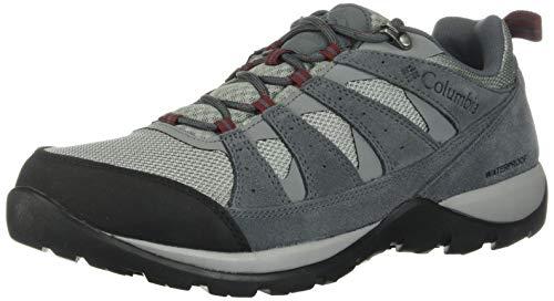 Columbia Redmond V2 WP Chaussures de Marche pour Homme - - Monument Gris Jaspe Rouge 036, 45 EU
