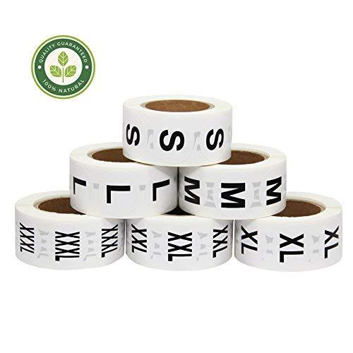 業務用 サイズ シール S M L XL XXL XXXL 大きさ 表示 仕分け 服 テープ ラベル アパレル (S、M、L、XL、XXL、XXXL)