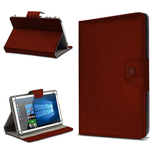 UC-Express Tablet Hülle für 10 Zoll Universal Hülle Cover Schutzhülle Kunstleder Tasche Etui, Farben:Braun, Tablet Modell für:Dell Venue 10 Pro