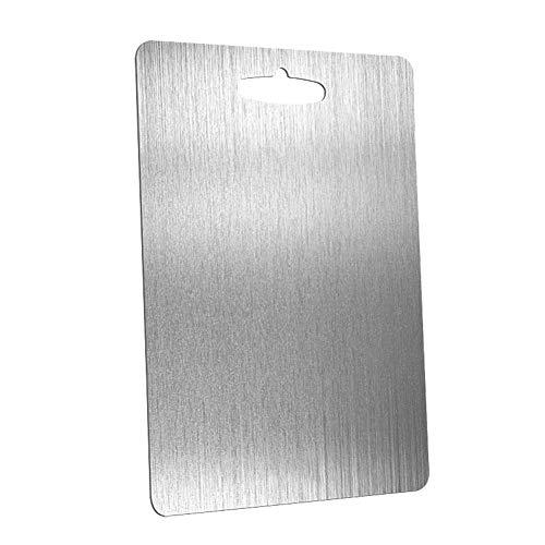 Tabla de cortar de cocina Tabla de cortar de acero inoxidable 304,...