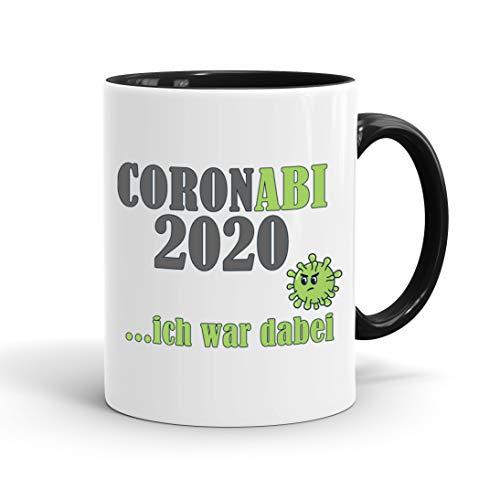 True Statements Tasse Coronabi 2020 ich war dabei - schöne Tasse als Geschenk zum Abitur, innen schwarz