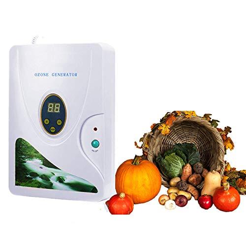 Generatore di Ozono Domestic 600 mg/h, Ozonizzatore Acqua Timer Digitale Portatile Macchina di Disintossicazione per frutta verdura carne Hydro acqua dolce Rad-Timer - 1-60 min Con display a led