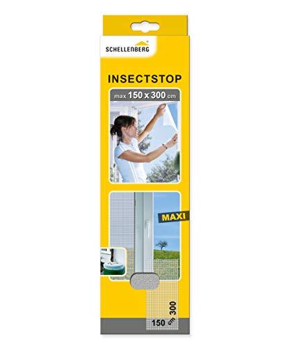 Schellenberg 50324 Insektenschutz für große Fenster einfache Montage ohne bohren, individuell kürzbar, Fliegengitter