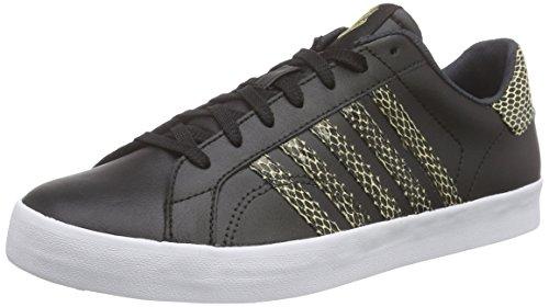 K-Swiss Damen Belmont SO Snake Sneakers, Schwarz (Black/Metallic Gold), 39 EU
