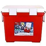 LZL Enfriador portátil, Retención de Hielo de 4 días de 33 pies, refrigerador portátil rotomoldado, refrigerador Duro Grande Cofre de Hielo de Servicio Pesado Ideal (Color : Red, tamaño : 20l)
