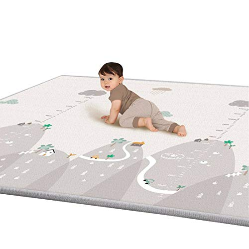 iVansa Tappeto Gioco per Bambini, Tappeto Gattonamento Morbido Tappeto Gioco LDPE Tappetino per Bambini, 180×200×1 cm