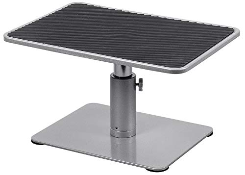 Monoprice Universal Monitor Riser Stand - Silver Perfect for Raising Your Monitor About 4.7 to 6.7 Inches - Workstream Collection