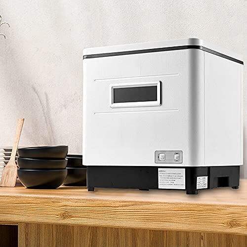 FETCOI Lavavajillas de mesa totalmente automático, 1500 W, mini/41-60 L, color blanco, para casa, 42 × 36 × 46 cm