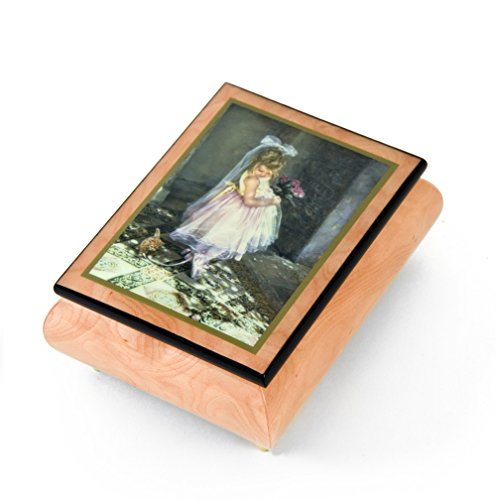 Handcrafted Ercolano Music Box Featuring Little Darling by Sandra Kuck - Many Songs to Choose - Baby Elephant Walk