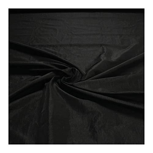 Stoff Polyester Crash Kleidertaft schwarz gecrasht Edelknitter