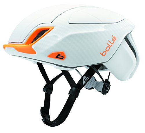 Bollé The One Road Premium Casco da Bicicletta, White/Orange 58-62 CM