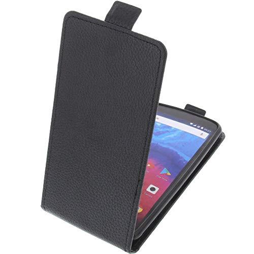foto-kontor Tasche für Archos Core 55s Smartphone Flipstyle Schutz Hülle schwarz