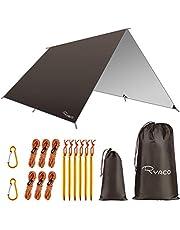 RYACO Camping tentzeil, 3 m x 3 m, tarp voor hangmat, waterdicht, licht, compact, tentonderlegger, picknickdeken, Hammock voor camping, outdoor, camping, outdoor, camping