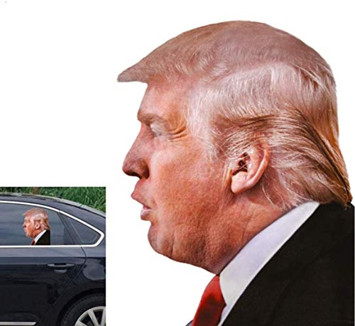 Senksll Donald Trump Decals Car Stickers Funny Window ,Easy Removal Leaves No Residue,13 inches (Left)…