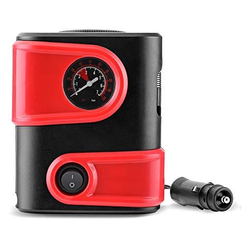 Air Pump Car 12V DC pneumatico dell'automobile gonfiatore portatile Mini compressore d'aria pompa della gomma Auto Pompa for la bici del motociclo SUV ( Colore : Rosso , Dimensione : Taglia unica )