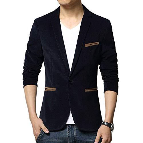 HaiDean Heren Slim Fit Velor Blazer Vrije tijd One-Button Moderne Casual Zakelijke Jas Suit Jas Blazer Slim Fit Casual Bovenkleding