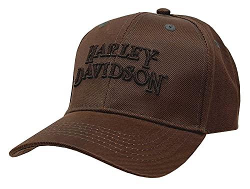 Harley-Davidson Regal Brown Stone Washed Baseball Cap Motorcycle Hat BC111439