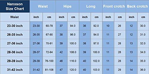 Nanxson Unisex Herren Damen Arbeitshose Kochhose Hotel Hose mit elastischer Taille CFM2008- (Schwarz, Taille: 67-90 cm) - 7