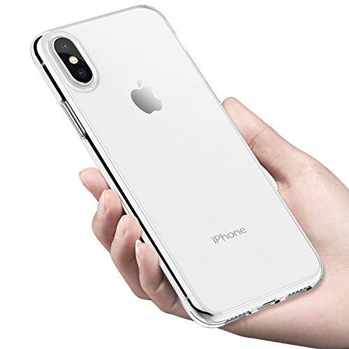 tronisky iPhone XS MAX Teléfono Móvil, Crystal iPhone XS MAX Carcasa antiarañazos TPU Bumper Case Ultra Fina antigolpes Silicone Gel Silicona para Apple iPhone XS MAX Case Cover, Transparente