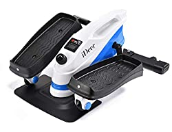 IDEER LIFE Under Desk&Stand Up Exercise Bike,Mini Elliptical Trainers Stepper Pedal w/Adjustable Resistance and LCD Display