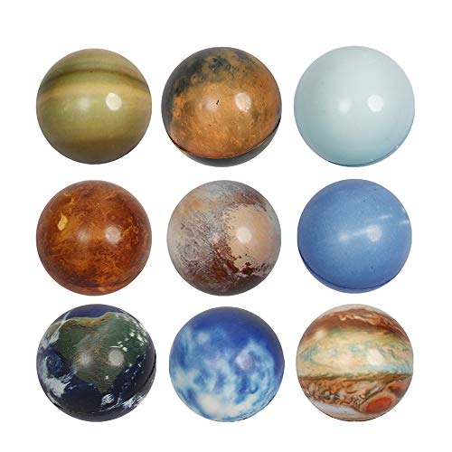 Anboor Planet Squishies Kawaii Soft Slow Rising Scented Globe Squishy Stress Relief Juguetes para ni?os Accesorios Decorativos, 9 Piezas