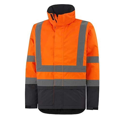 Helly Hansen Workwear Warnschutz Winterjacke Alta Insulated CL3 isolierte wasserdichte Regen-Arbeitsjacke 269 L, 70335