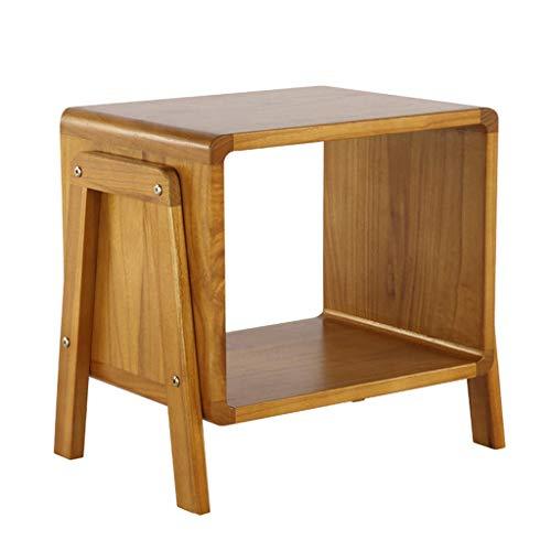 Table de Chevet Multifonctionnel Table de chevet Porche Chaussures en bois Banc Living Stack Chambre Support de rangement Combinaison support en bois Table Basse