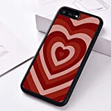 WGOUT Funda de Silicona para teléfono para iPhone 6 6S 7 8 Plus 5 5S SE 2020 X XS XR 11 Pro MAX Love Swirls corazón Rojo, para iPhone 8