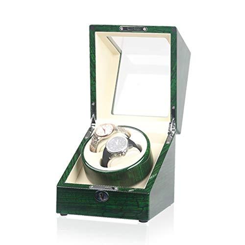 Oksmsa 2+0 Automático Caja Giratoria De Reloj con LED, 9 Velocidades, Suave Reloj Almohada Y Mudo Motor, Reloj Caja De Presentación