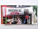 Technicqll Mastic adhésif silicone haute température Rouge 70ml Résistant à la chaleur jusqu'à 300°C