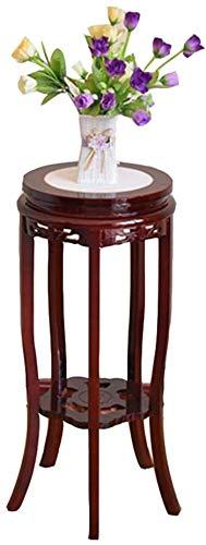 Cacoffay Kleine Holzblumenständer Mid Century kleinen Beistelltisch, Round Side Beistelltisch Blumentopf Halter Home Decor,XXXL