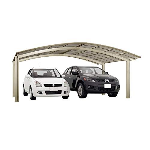 XIMAX Aluminium Design-Carport Portoforte M-Ausführung Typ 80 Edelstahl-Look