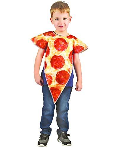 Generique - Disfraz porción de Pizza niño - XS 3-4 años (92-104 cm)