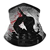 Psycho Silhouette Alfred Hitchcock Face Mask Bandanas For Dust, Outdoors, Festivals, Sports