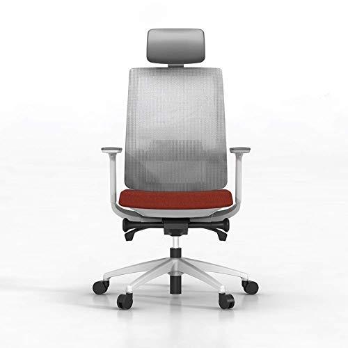 YGB Exklusiv datorstol, enkel datorstol, liggande svängbar stol lyft boss stol lat sofftyg avslappnad kontorsstol röd