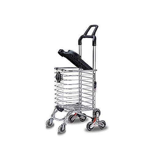 Audrly Faltende Einkaufstrolley Sitzen Aluminiumabdeckung Der Aluminiumlegierung des Alten Mannes Kann Jugendeinkaufen