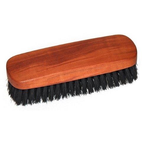 Práctico cepillo de ropa de madera de pera aceitada, con cerdas de jabalí, aprox. 14 cm, fabricado en Alemania.