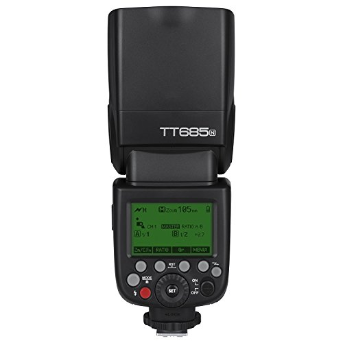 Godox TT685N TTL Flash Camera Flash Speedlite, 2.4G HSS 1/8000s TTL GN60 Electronic Flash for Nikon Cameras Compatible with I-TTL II Autoflash