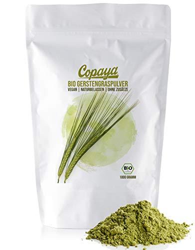 Copaya Bio Gerstengras Pulver aus kontrolliert biologischem Anbau (1000g)