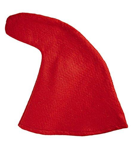 Zwergenmütze zum Kostüm Rot